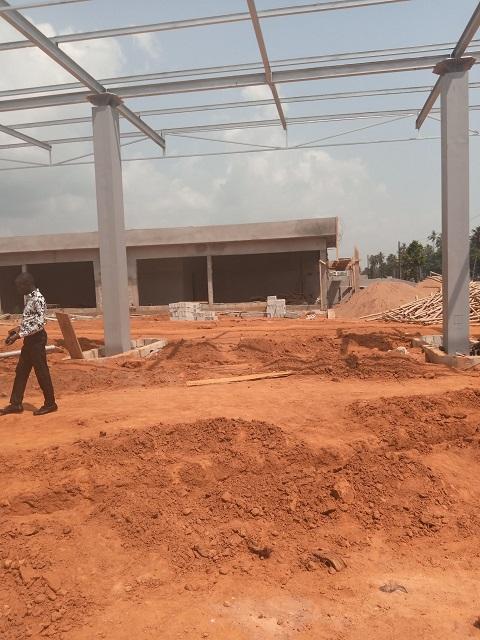Visite du chantier de la station de GRAND-BASSAM
